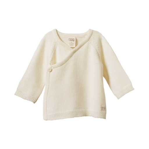 NATURE BABY MERINO KNIT KIMONO JACKET NATURAL