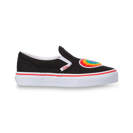 VANS KIDS CLASSIC SLIP ON CHENILLE RAINBOW HEART