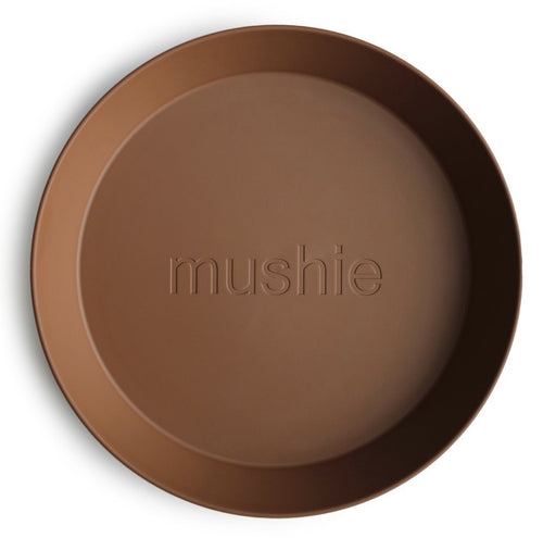 MUSHIE DINNERWARE ROUND PLATE SET OF 2 - CARAMEL