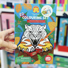TIGER TRIBE - COLOURING SET FIERCE CREATURES