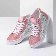 VANS KIDS SK8 HI ZIP SHARK PARTY PINK