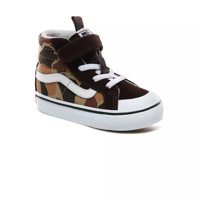 VANS TODDLER SK8 HI REISSUE CHOC TRUE WHITE