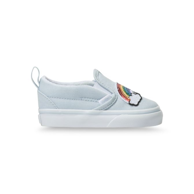 VANS TODDLER SLIP ON V SEQUIN PATCH