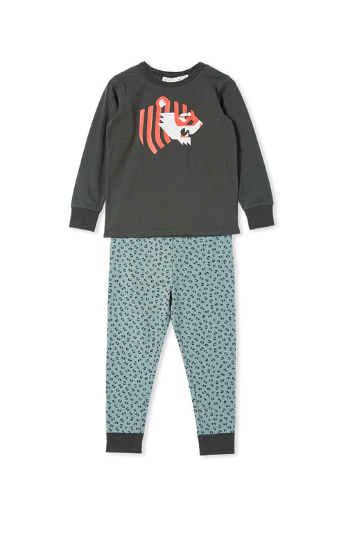 MILKY TIGER PJS JUNGLE GREEN