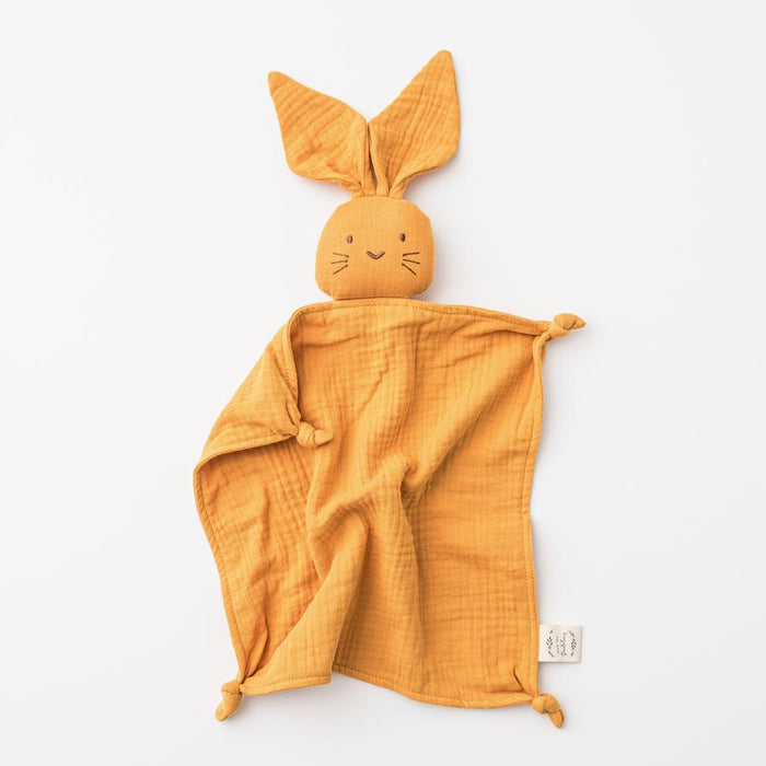 OVER THE DANDELIONS Organic Muslin Bunny Lovey Saffron