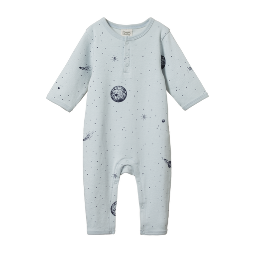 NATURE BABY HENLEY PJ SUIT - GALAXY PRINT