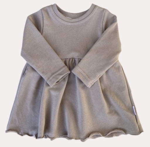 BLUSH BABY SWEATSHIRT DRESS - FAWN