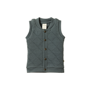 NATURE BABY QUILTED VEST - VALLEY BLUE