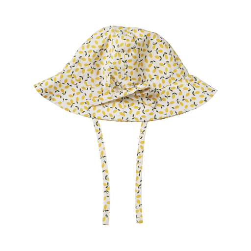 NATURE BABY POPLIN SUNHAT - LEMMONY NATURAL PRINT