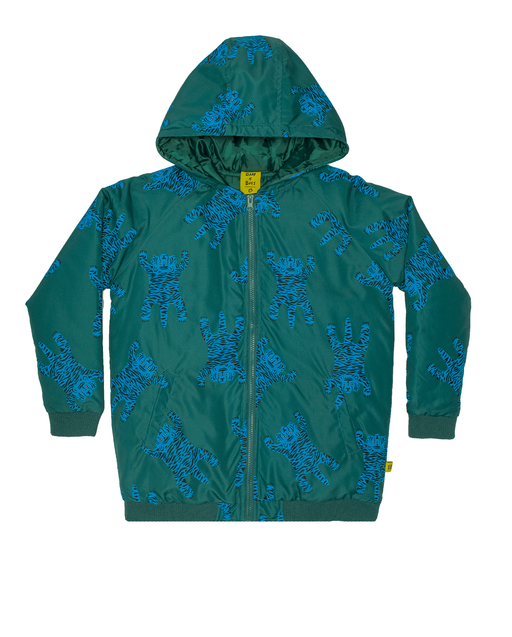 BAND OF BOYS RAIN BOMBER JACKET EASY TIGER GREEN