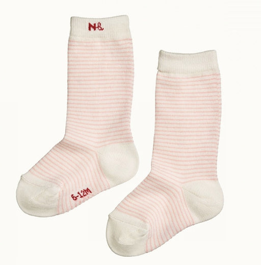 NATURE BABY ORGANIC COTTON SOCKS PINK STRIPE