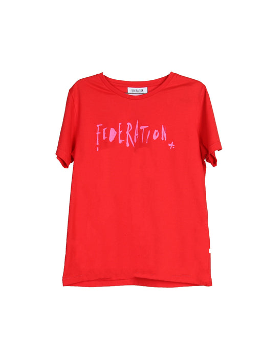 MINI FED NICE TEE INKED RED