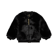 ROCK YOUR KID FUR JACKET BLACK