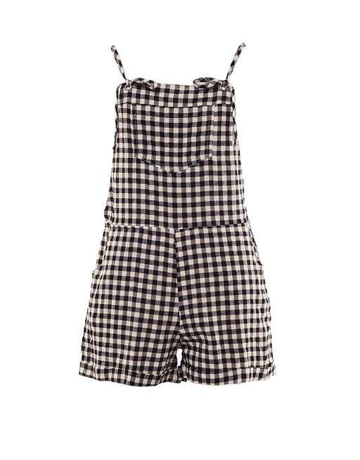EVE SISTER CHECK OVERALL BLACK WHITE CHECK
