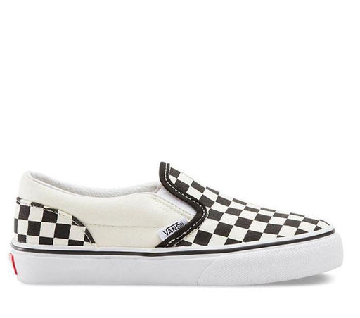 VANS KIDS CLASSIC SLIP ON BLACK & WHITE CHECKERBOARD