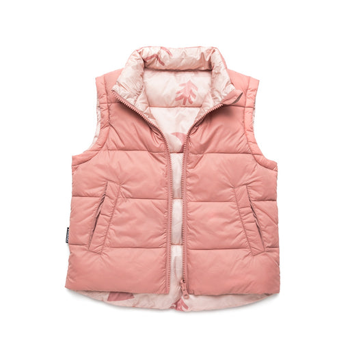 CRYWOLF REVERSIBLE VEST CAMPFIRE ROSE