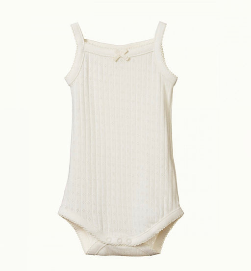 NATURE BABY POINTELLE CAMISOLE BODYSUIT - NATURAL