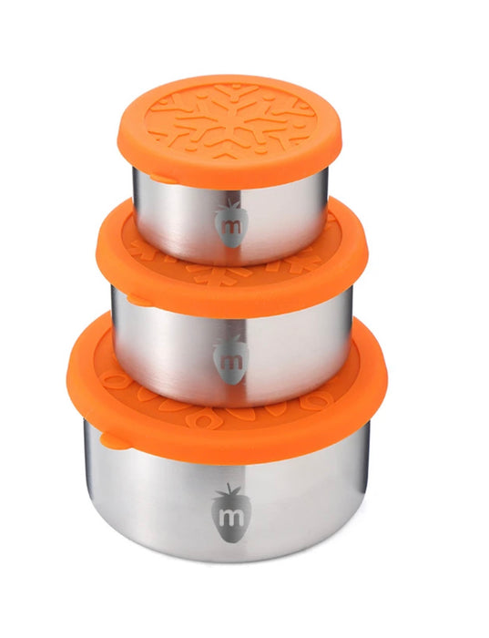 MUNCH REUSABLE STAINLESS STEEL LUNCH CONTAINERS - 3PK