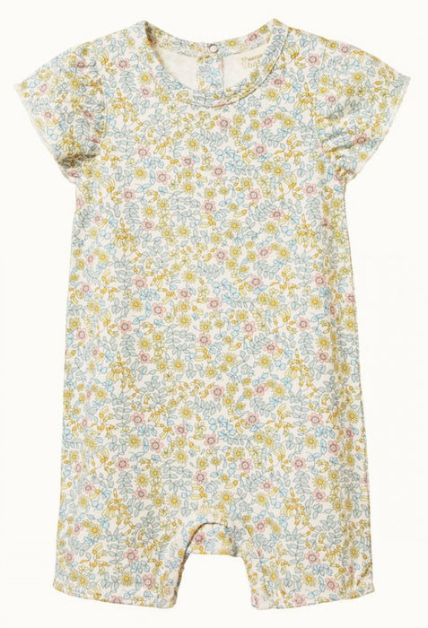NATURE BABY TILLY SUIT - KOWHAI GARDEN PRINT