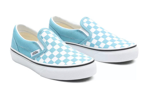 VANS CLASSIC SLIP-ON- DELPHINIUM BLUE CHECKERBOARD