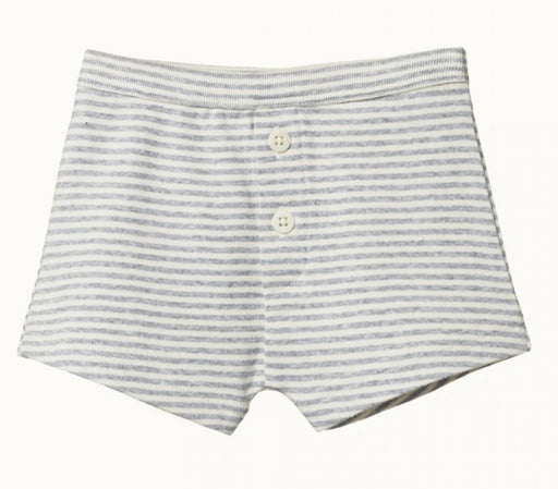 NATURE BABY BOYS BOXER SHORTS - GREY MARLE STRIPE