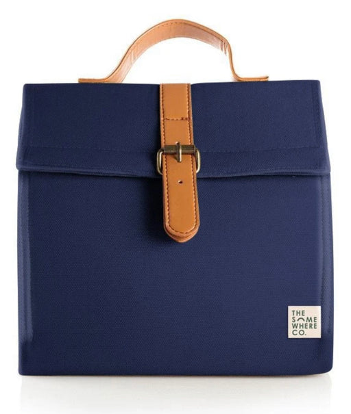 THE SOMEWHERE CO LUNCH SATCHEL - MIDNIGHT SNACK NAVY