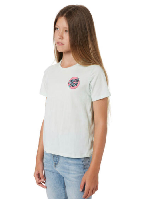 SANTA CRUZ GIRLS OTHER DOT TEE - PALE GREEN