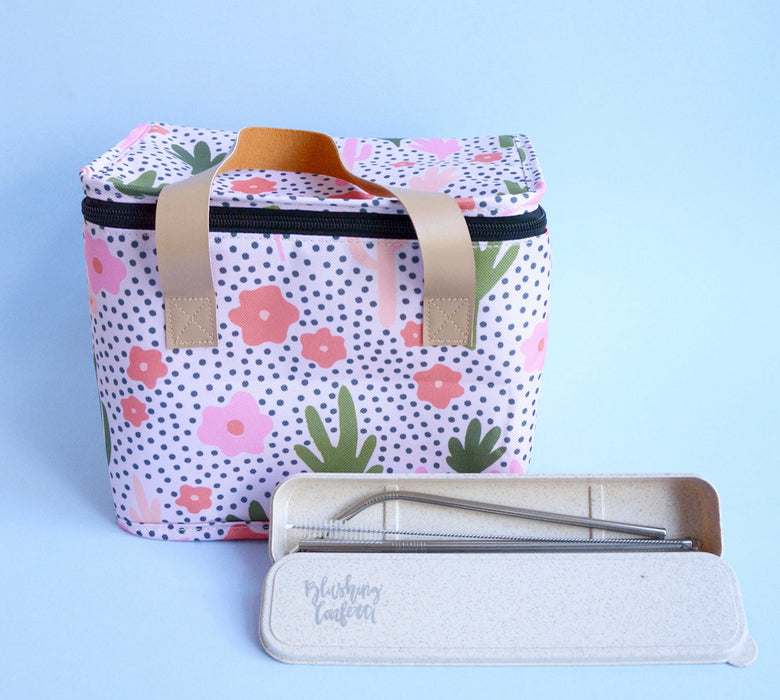 THE SOMEWHERE CO LUNCH BAG - BLOOMING CACTI