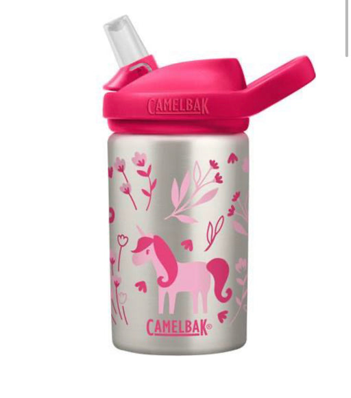 CAMELBAK EDDY DRINK BOTTLE 400MLS - STAINLESS STEEL UNICORN & BLOOMS