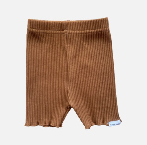 BLUSH BABY RIBBED BIKE SHORTS - GOLDEN