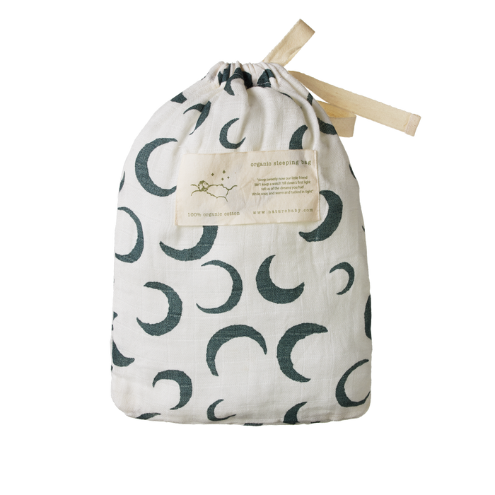NATURE BABY COTTON SLEEPING BAG CRESCENT MOON PRINT