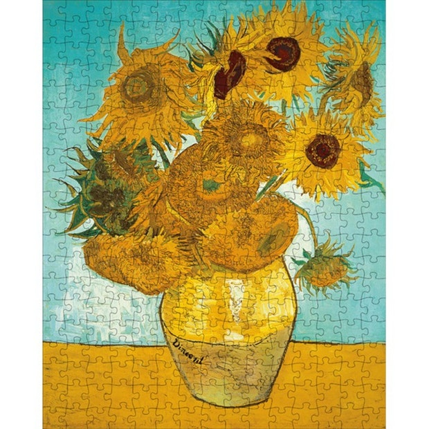 SASSI ART TREASURES VAN GOGH SUNFLOWERS BOOK + PUZZLE