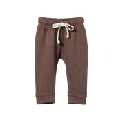 NATURE BABY SUNDAY TRACKPANTS - TRUFFLE MARL