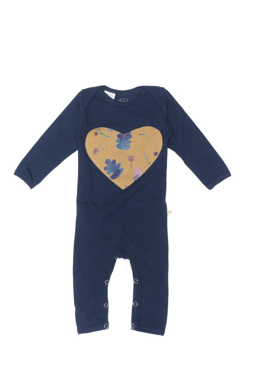 The Kids Store-ALEX & ANT HEART ROMPER - NAVY-