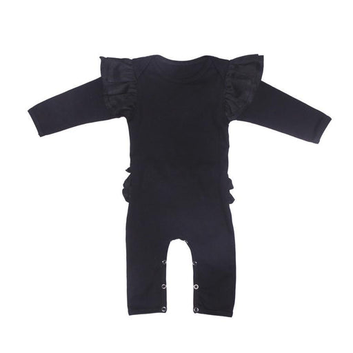 The Kids Store-ALEX & ANT LENA FRILL ROMPER - BLACK-
