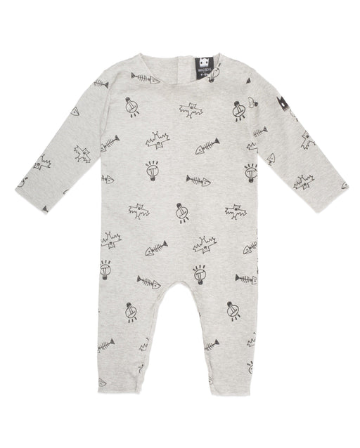 The Kids Store-BAND OF BOYS BABY ORGANIC ROMPER - STUFF GREY MARLE-