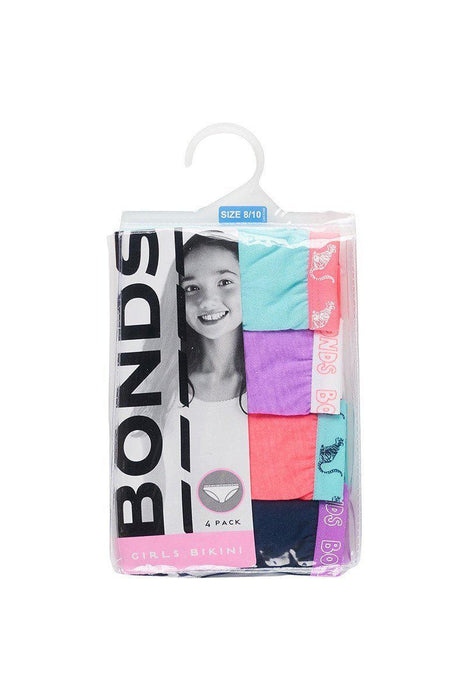 The Kids Store-BONDS 4 PACK GIRLS BRIEFS - FUNPACK-