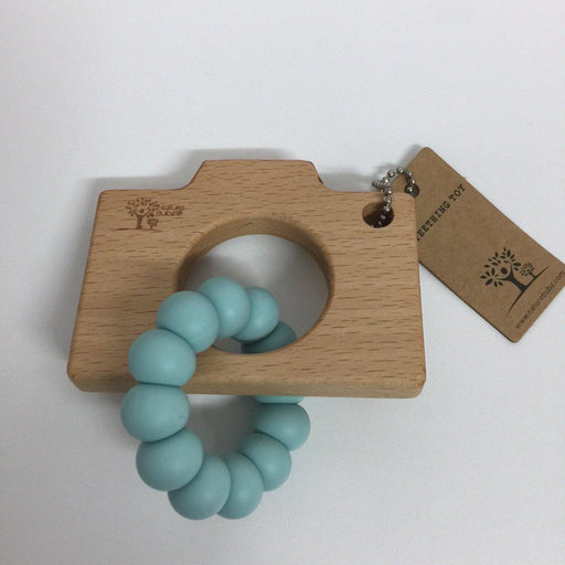 The Kids Store-CAMERA TEETHER - SEAFOAM-
