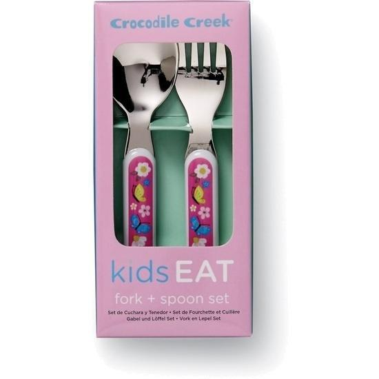 The Kids Store-CROCODILE CREEK CUTLERY SET - BACKYARD FRIENDS-