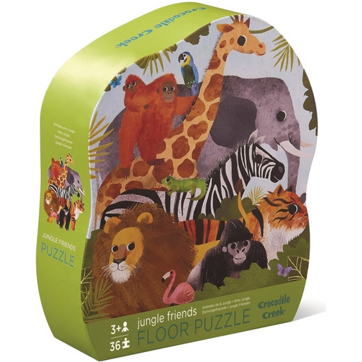 The Kids Store-CROCODILE CREEK JUNGLE FRIENDS FLOOR PUZZLE - 36 PC-