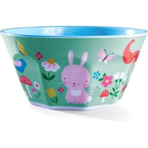 The Kids Store-CROCODILE CREEK MELAMINE BOWL - BACKYARD FRIENDS-