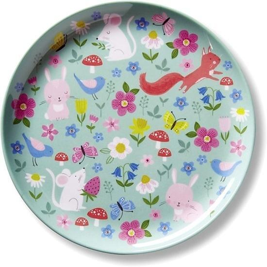 The Kids Store-CROCODILE CREEK MELAMINE PLATE - BACKYARD FRIENDS-
