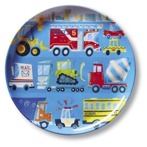 The Kids Store-CROCODILE CREEK MELAMINE PLATE - BUSY CITY-