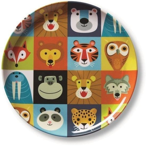 The Kids Store-CROCODILE CREEK MELAMINE PLATE - JUNGLE JAMBOREE-