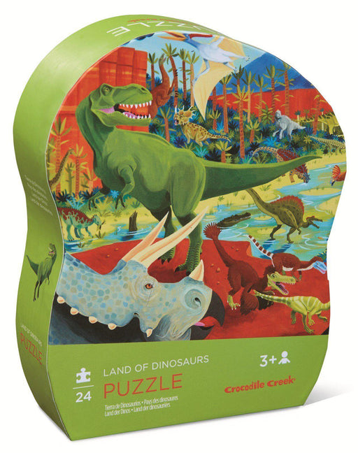 The Kids Store-CROCODILE CREEK MINI PUZZLE LAND OF DINOSAURS - 24 PCS-