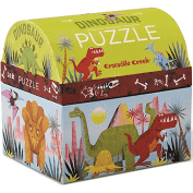The Kids Store-CROCODILE CREEK MINI SHAPED PUZZLE DINOSAURS - 24PCS-