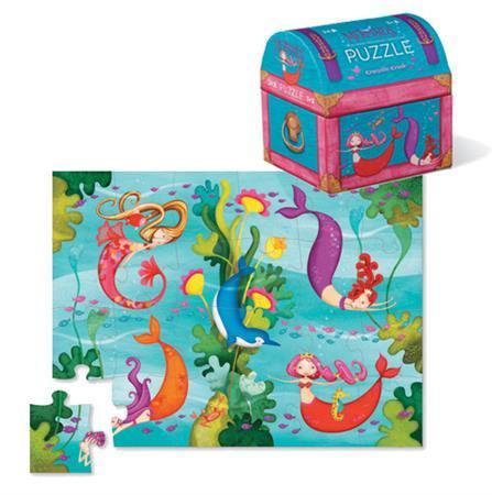 The Kids Store-CROCODILE CREEK MINI SHAPED PUZZLE MERMAIDS - 24PCS-