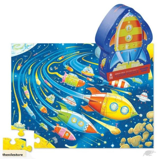 The Kids Store-CROCODILE CREEK SPACE RACE FLOOR PUZZLE - 36 PC-