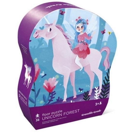 The Kids Store-CROCODILE CREEK UNICORN FOREST FLOOR PUZZLE - 36 PCS-