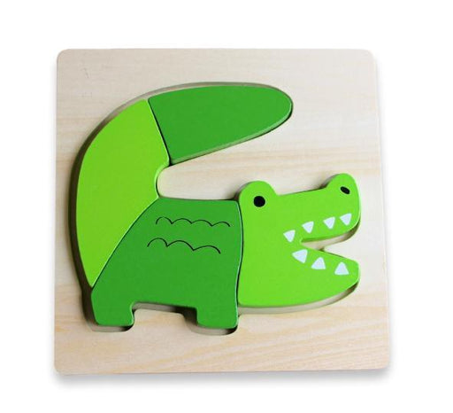 The Kids Store-DISCOVEROO CHUNKY PUZZLE - ALLIGATOR-
